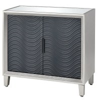"""34"""" Silver Leaf Two Door Wood Cabinet"""