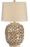 "30"" Jute Openwork Base Table Lamp"