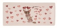 """4"""" x 9"""" Chihuahua Cup of Tea Valentine Tray"""