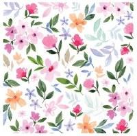 """5"""" Square Garden Bloom Paper Beverage Napkins"""