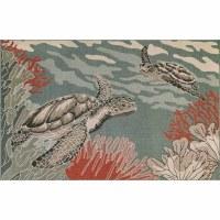 3.3' x 4.11' Ocean Sea Turtles Rug