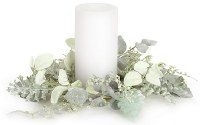 "4"" Faux Frosted Mixed Herbs Candle Ring"