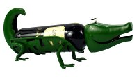 "17"" Green Metal Alligator Bottle Holder"