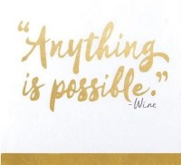 "5"" Square Anything is Possible Paper Beverage Napkins"