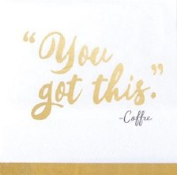 "5"" Square You Got This Paper Beverage Napkins"