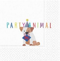 "5"" Square Party Animal Paper Beverage Napkins"