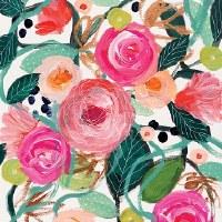 """5"""" Square La Belle Rose Paper Beverage Napkins"""
