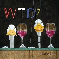 "5"" Square What the Duck Paper Beverage  Napkins"