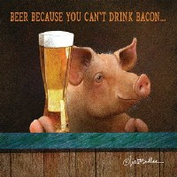 "5"" Square You Can't Drink Bacon Paper Beverage Napkins"