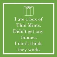 "5"" Square I Ate Thin Mints Paper Beverage Napkins"