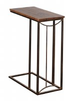 """18"""" Brown and Dark Bronze """"C"""" Table"""