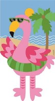 "18"" x 13"" Mini Flamingo With Dangling Legs Garden Flag"