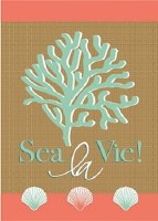"18"" x 13"" Mini Sea La Vie Garden Flag"