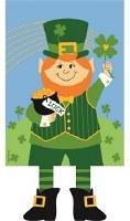 "18"" x 13"" Mini Leprechaun With Dangling Legs Garden Flag"