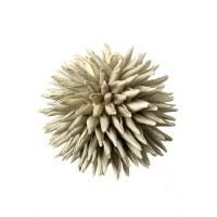 """4.5"""" Ivory Spike Orb"""