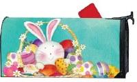 "20"" x 18"" Easter Bunny Basket Magnetic Mailwrap"