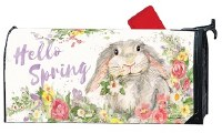 """20"""" x 18"""" Hello Spring Bunny Magnetic Mailwrap"""