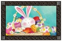 """18"""" x 30"""" Easter Bunny Basket Doormat"""