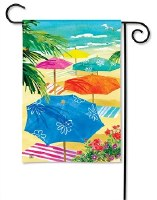 "18"" x 12"" Mini Beach Umbrellas Garden Flag"