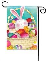 "18"" x 12"" Mini Easter Bunny Basket Garden Flag"