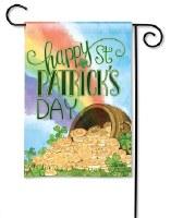 "18"" x 12"" Mini Happy St. Patrick's Day Garden Flag"