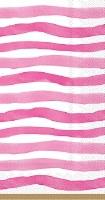 "9"" x 5"" Pink Wavy Stripes Paper Guest Towels"