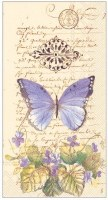 "9"" x 5"" Cream Moments of Romance Butterfly Paper Guest Towels"