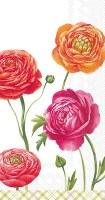 "9"" x 5"" Rose Blooms Paper Guest Towels"