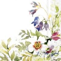 """5"""" Square Floral Paper Beverage Napkins"""