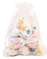 Bag of 12 Multicolored Folk Style Floral Eggs