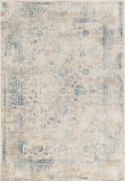 """4"""" x 3"""" Gray and Blue Brigid Generation Collection Rug"""