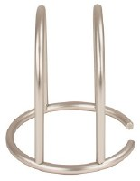"""6"""" Stainless Steel Arched Euro Napkin Holder"""