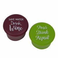 Set of 2 Save Water Drink Repeat Wine Bottle Caps