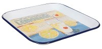 """12"""" Square Squeezed Lemonade Metal Tray"""