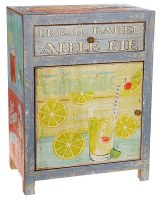 "32"" Distressed Lemonade Drawer Cabinet"