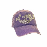Purple Crystallized Mermaid Cap