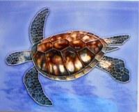 """10"""" x 8"""" Sea Turtle Tile"""