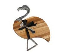 "13"" Flamingo Cutting Board with Spreader"