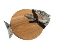 """12"""" Fish Cutting Board with Spreader"""