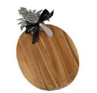 """11"""" Pineapple Cutting Board with Spreader"""