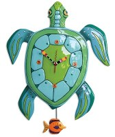 "22"" Blue and Green Sup Daddy Turtle Clock"