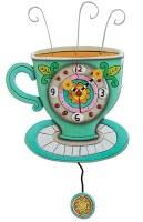 """16"""" Whimsical Sunny Teacup Clock"""