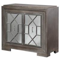 """38"""" Dark Gray 2 Mirror Door Cabinet"""