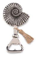 """5"""" Distressed Silver Finish Snail Shell Bottle Opener"""