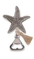 "5"" Distressed Silver Finish Starfish Bottle Opener"