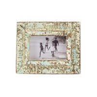 """4"""" x 6"""" Distressed White and Blue Finish Frame"""