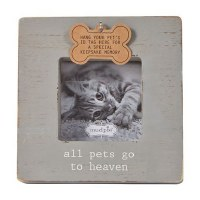 "3"" x 3"" Gray Dog Tag Frame"