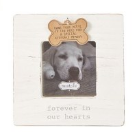 "3"" x 3"" White Dog Tag Frame"