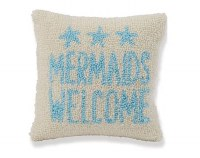 "10"" Square Mermaids Welcome Pillow"