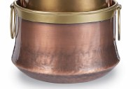 """8"""" Coppe Pot With Brass Handles"""